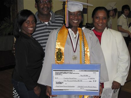 DCAAA awarded a $1,000.00 High School Senior Scholarship to Towers High School Senior Candice Nicole Price.