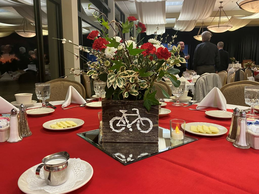 Sacramento Bike Hikers annual awards banquet at North Ridge Country Club