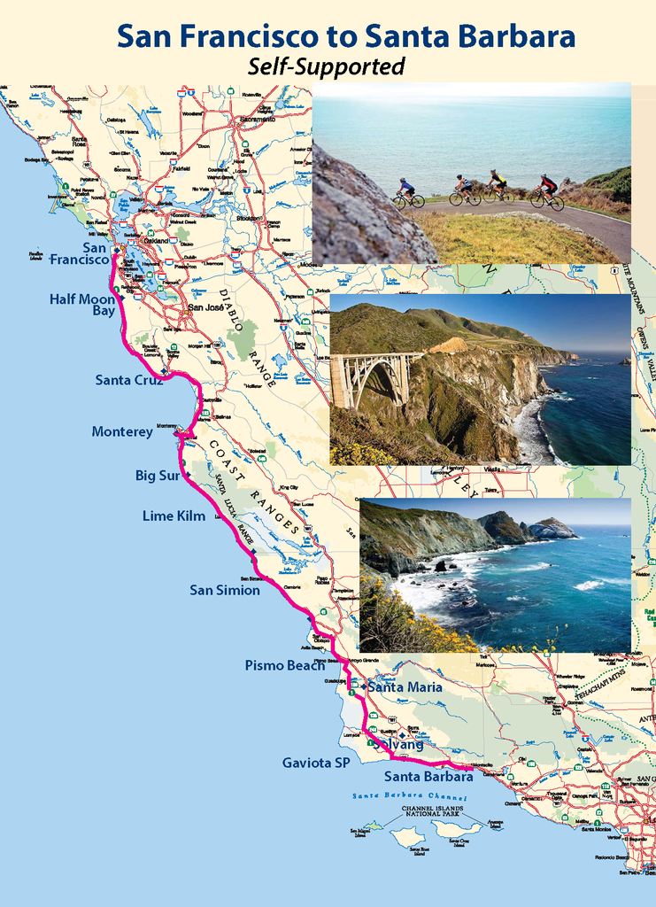 Sac Bike Hikers do a self-supported trek down the Pacific Coast from San Francisco to Santa Barbara. October 12-20, 2019