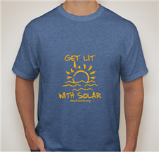 Get Lit With Solar TShirt - click to view details