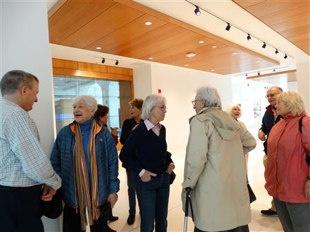 During this two hour guided tour, GV members had the opportunity to view the Museum Studies department's exhibition.