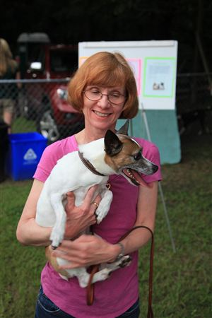 Handlers and dogs having fun at our Doggie Back to School Night! For all of the pictures, click HERE.