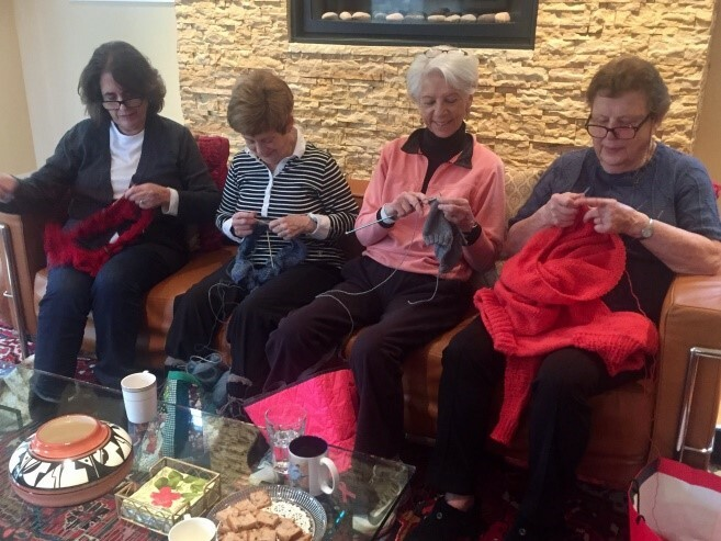 knitting and conversation