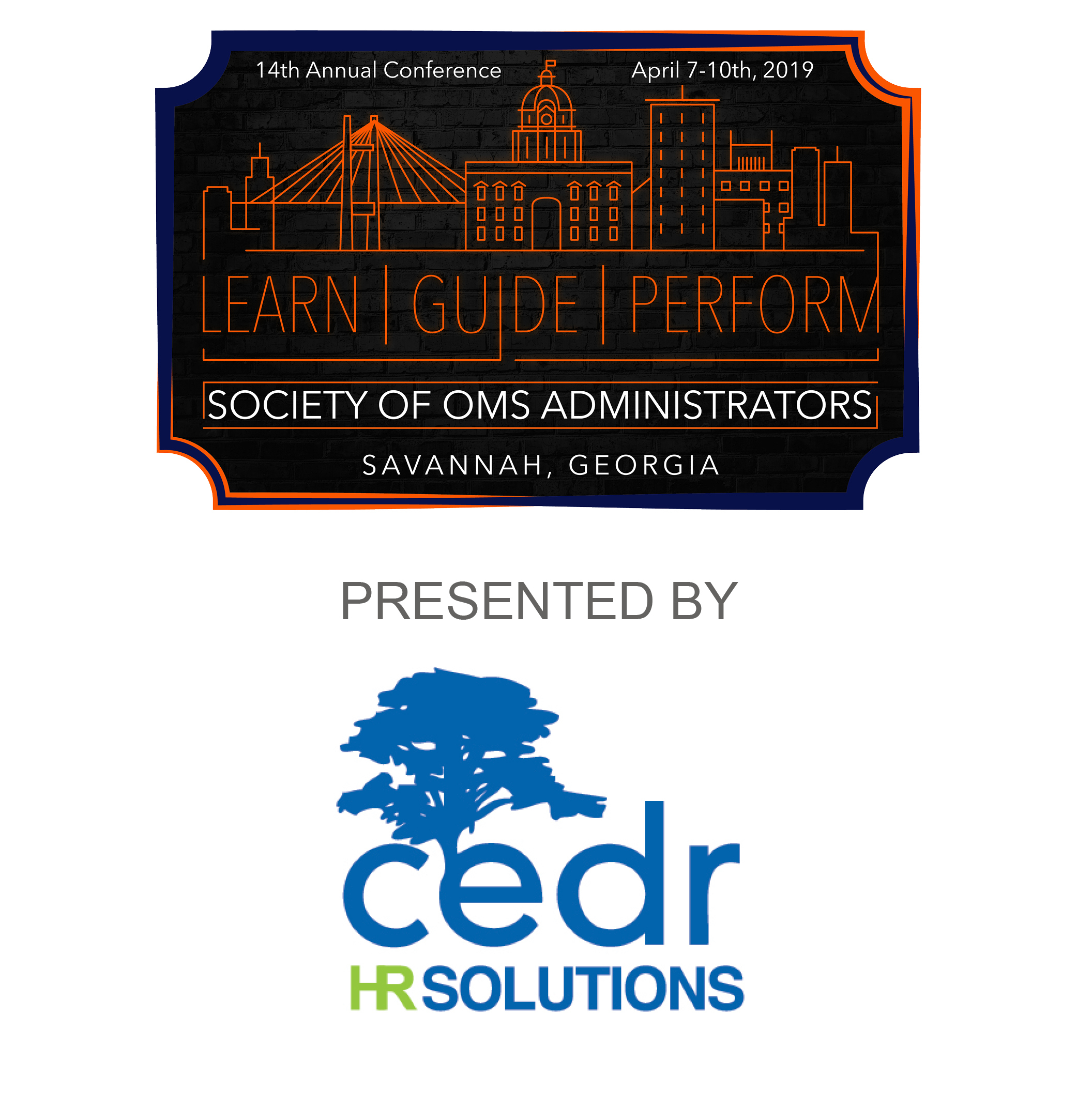 SOMSA 2019 Conference Logo sponsored by CEDR Solutions