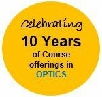 UCI DCE Optics 10 yrs logo