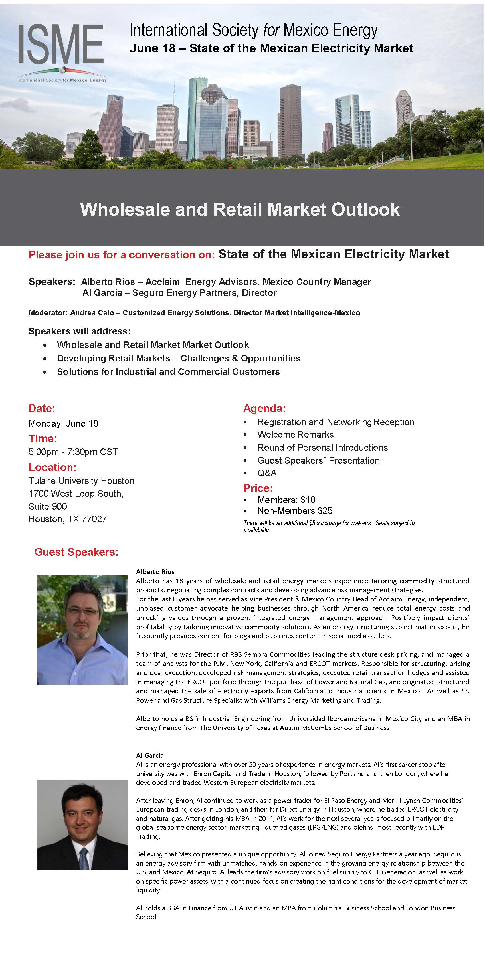 Houston) State of the Wholesale Electricity Market - ISME Meetings