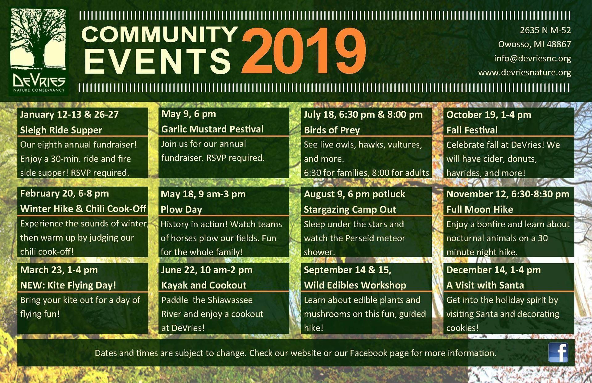 Events - DeVries Nature Conservancy