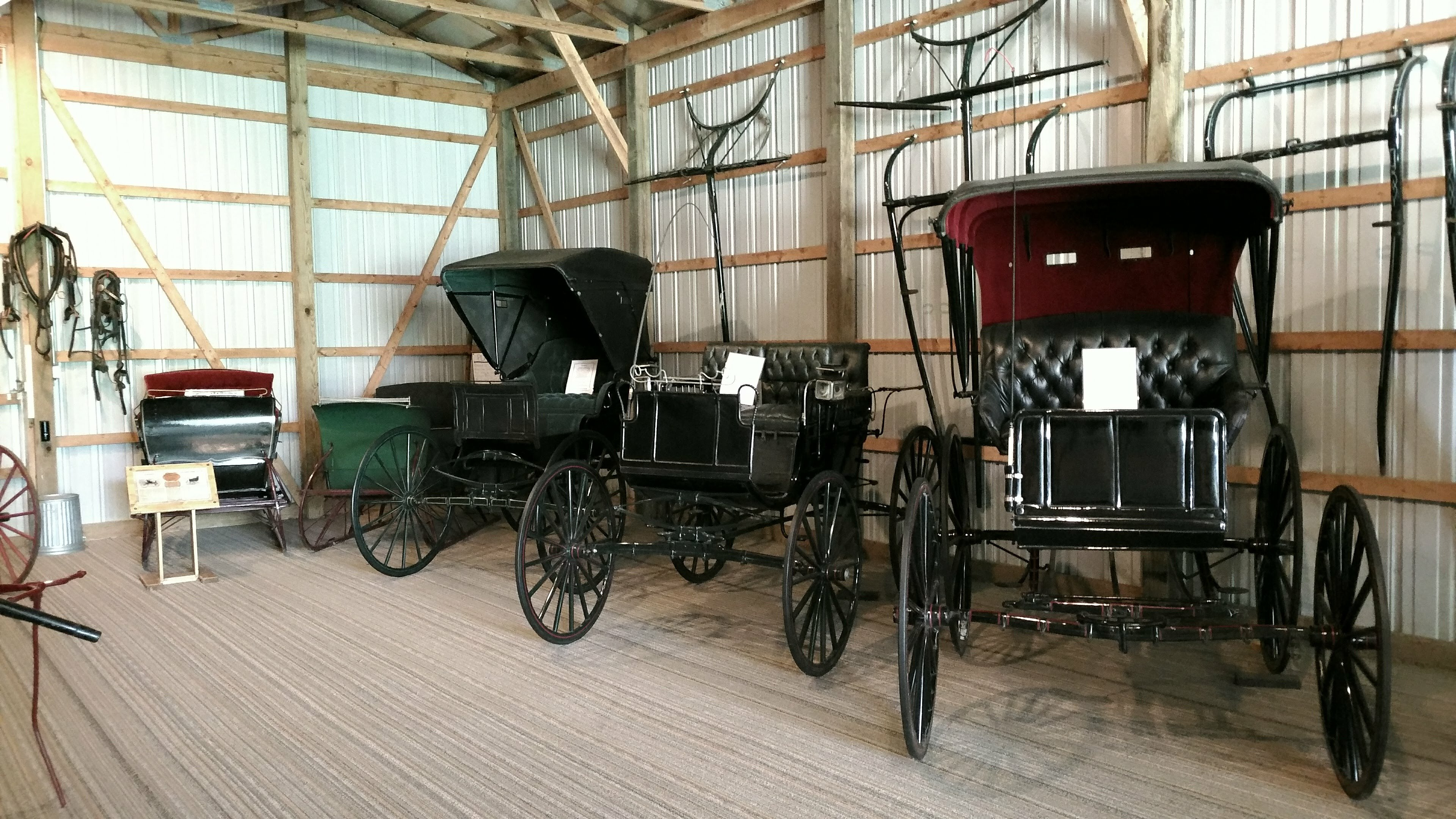 Carriages front view