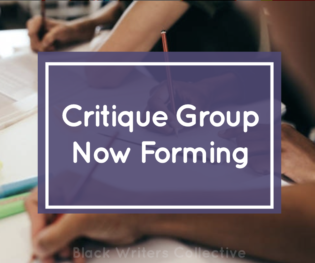 Sign up for Black Writers long critique group