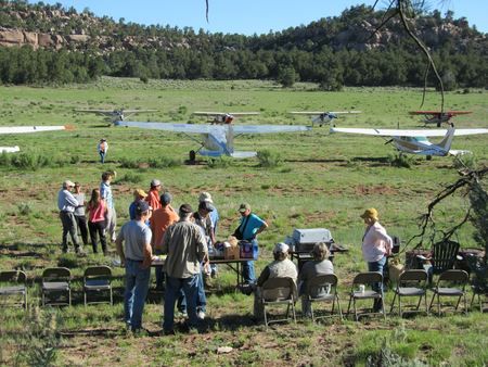 Murrow Field on the Divide, a new airstrip in the past few years hosts a camping and Fly In weekend each June.