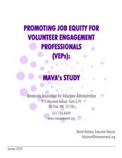 Promoting Job Equity for VEPs: Full Report - click to view details