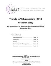 Trends in Volunteerism 2018 Report - click to view details