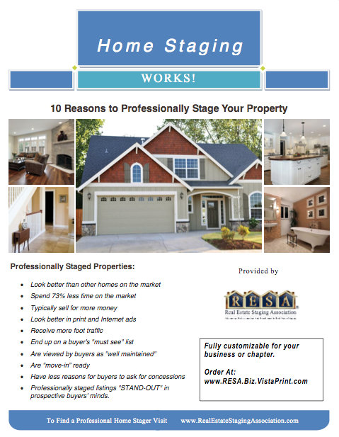 RESA Publications - RESA on home inspection flyer, home cleaning flyer, home security flyer, home buying flyer, home maintenance flyer, organizing your home flyer, home listing flyer, home insurance flyer, home repairs flyer,