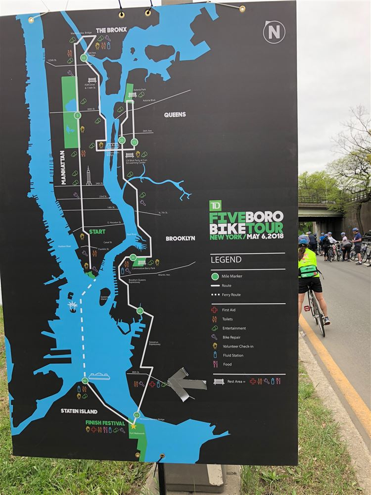 Eight LOC members travelled to New York City to participate along with about 38,000 other cyclists on a Sunday bike ride through the 5 Boros of the Manhattan area.