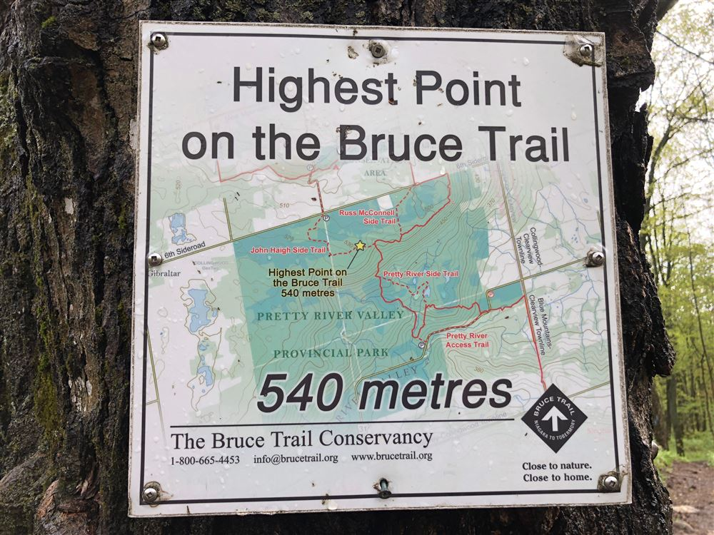 Fifteen LOC members spent the Victoria Day long weekend challenging major hills, rocks and crevices in the Blue Mountain Section of the Bruce Trail.