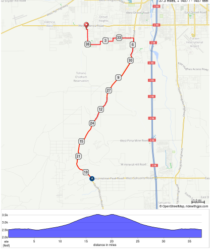 Mission Road Ramble 37 mile Out & Back