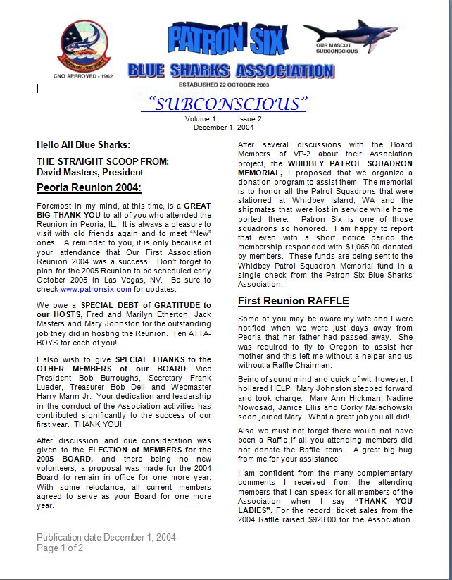 Subconscious NEWSLETTER VOL 1 & ISSUE 2