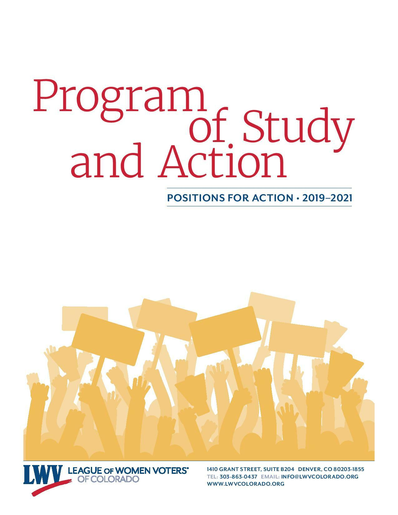 Program of Study and Action 2019-21