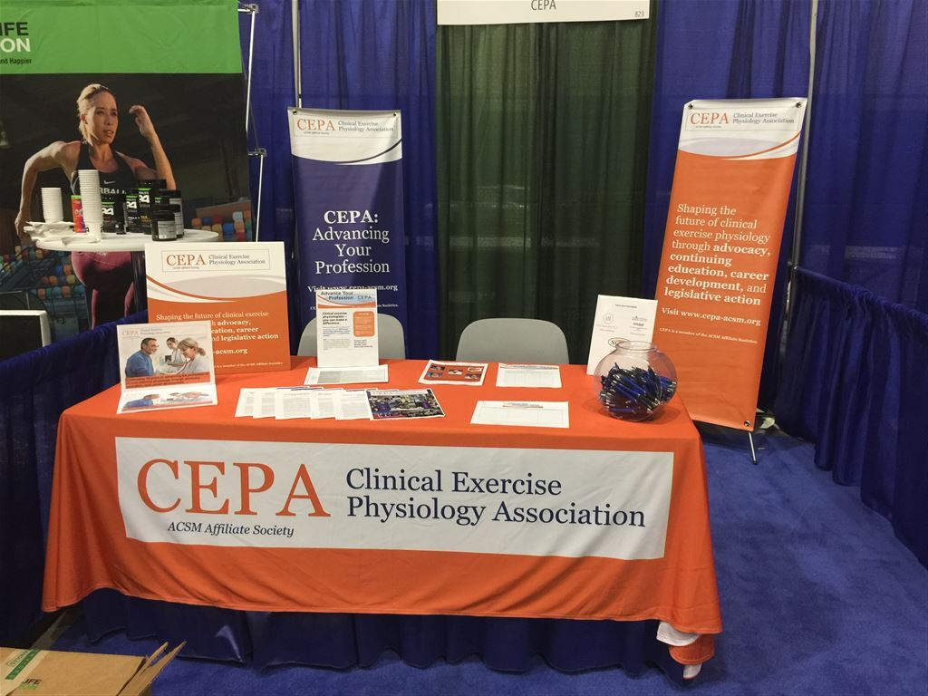 Images of CEPA booth at the 2018 ACSM annual meeting in Minneapolis, MN