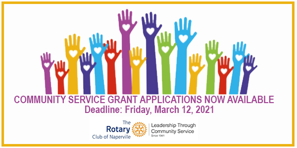 2021 Community Servic Grant Applications Now Available