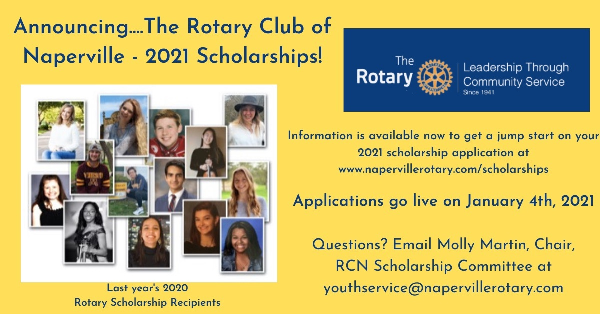 2021 Rotary Scholarship Announcement