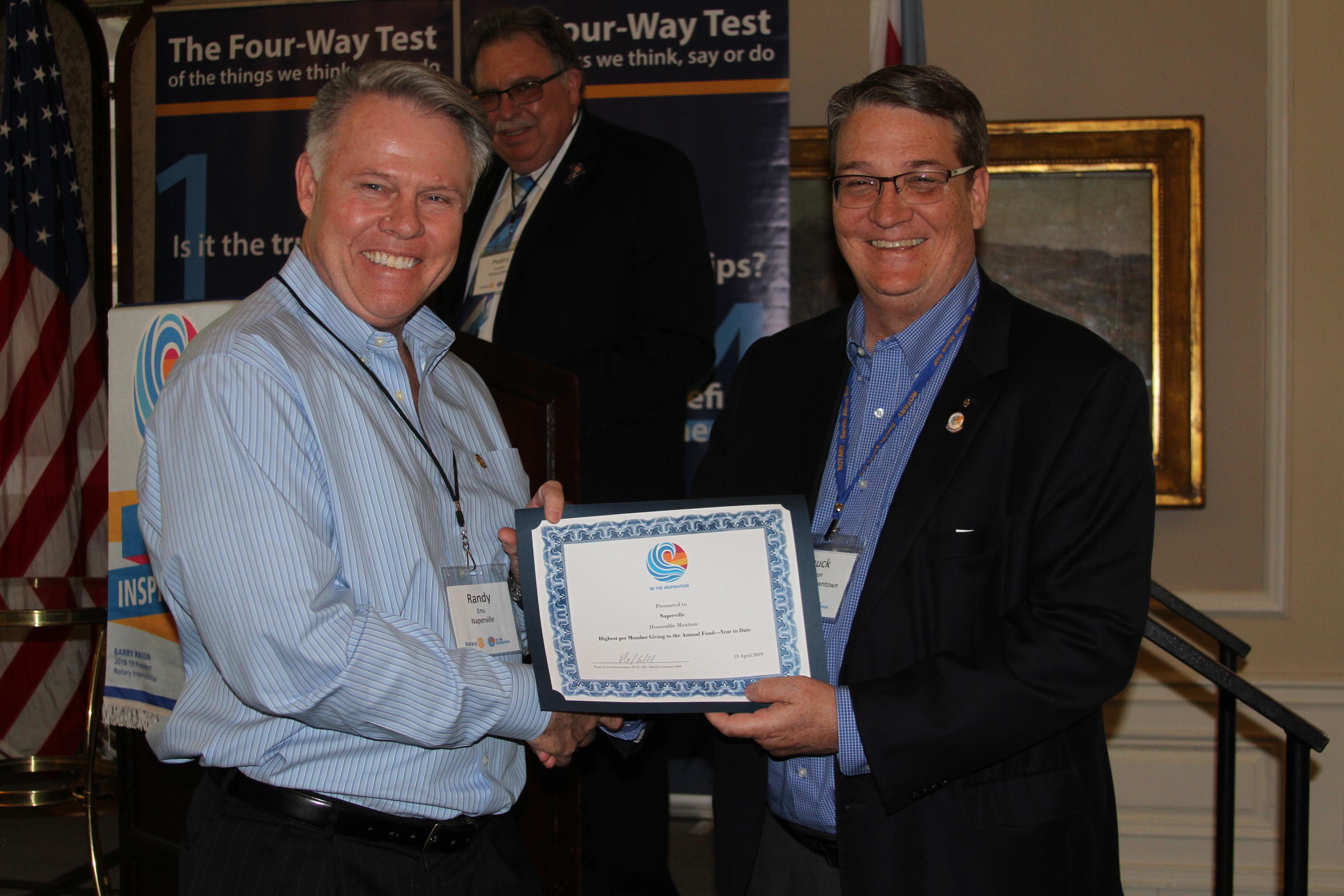 2019 District Award Randy Ems
