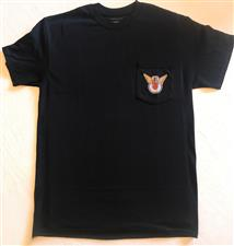 Men's Pocket Tee: BLACK-Color Logo on Front & Back - click to view details