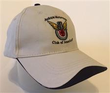 Hat: STONE/NAVY-Embroidered Club Logo  - click to view details