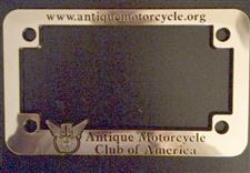 License Plate Frame: Motorcycle  - click to view details