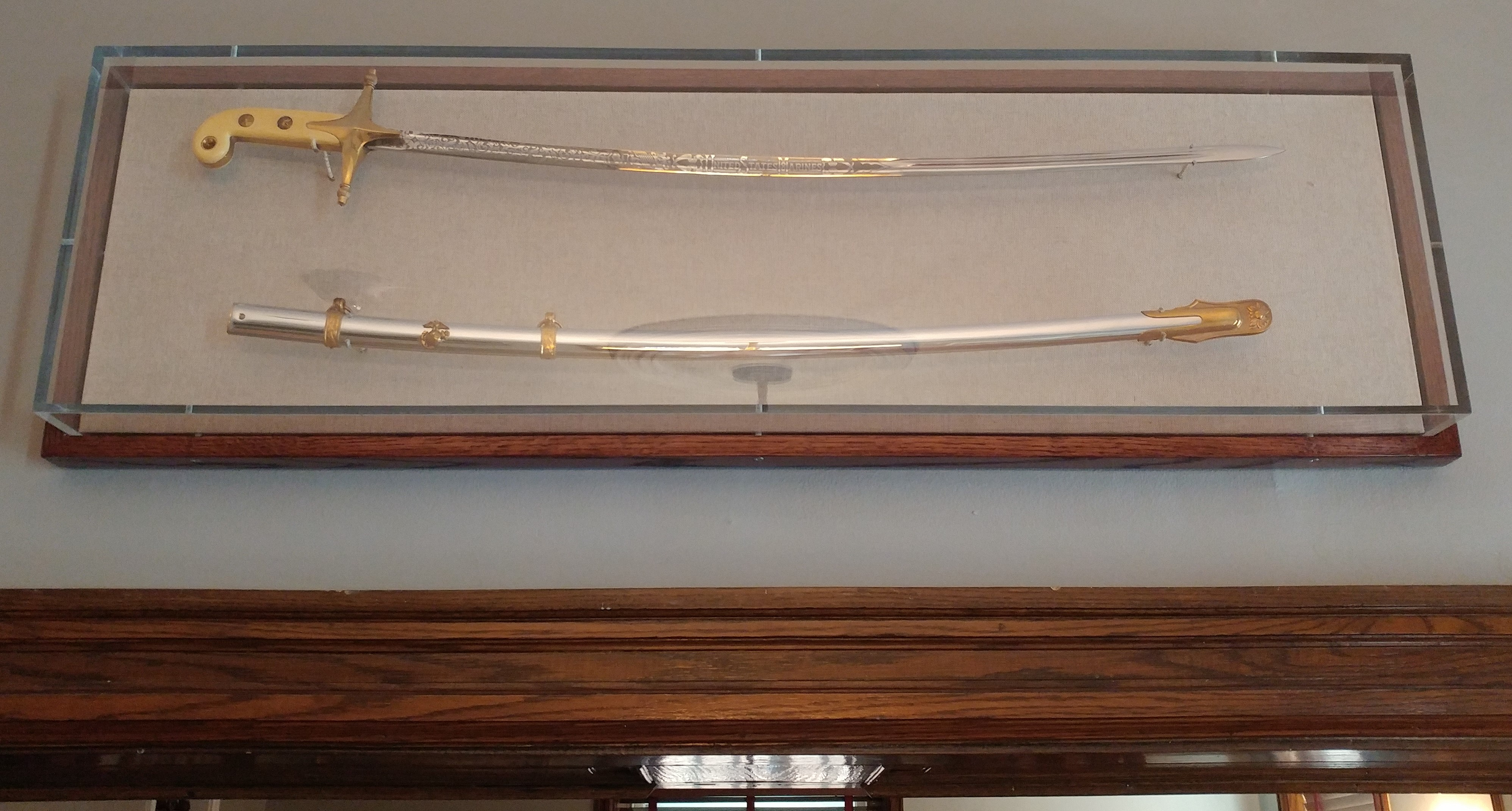 Batterton Sword Encased in Dining Room