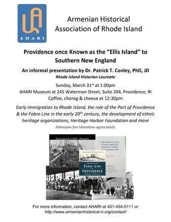 Port of Providence - Immigration in early 1900s with Dr Patrick Conley JD, PhD