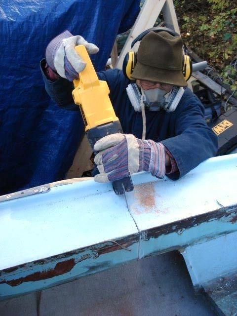 Stern Deck Repair of Ensign 23 - Saratoga Lake Sailing Club