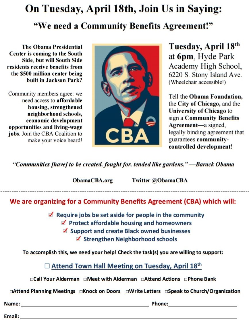 600 Pm Community Meeting On The Obama Center The Importance Of