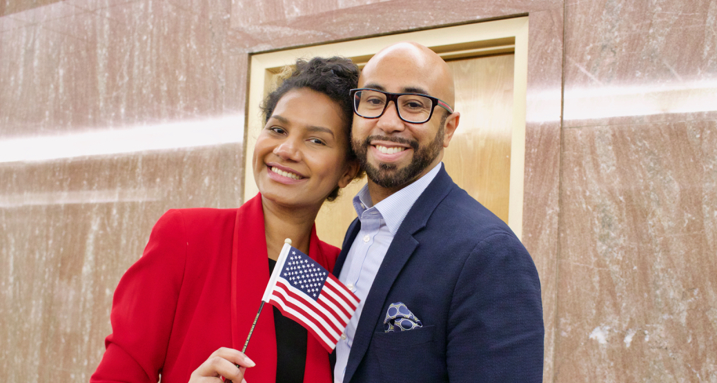 Man and Woman with US Flag - Voting Overview