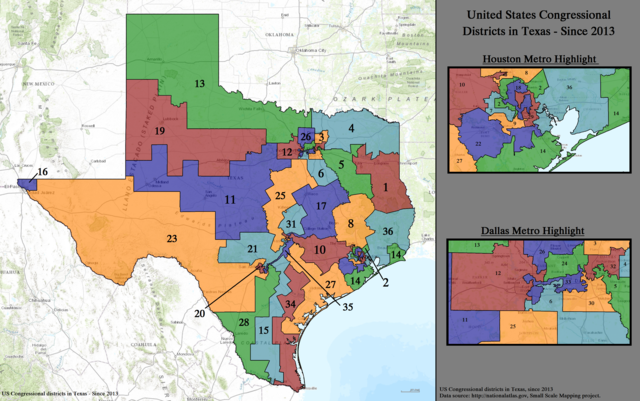 Texas Congressional Districts since 2013