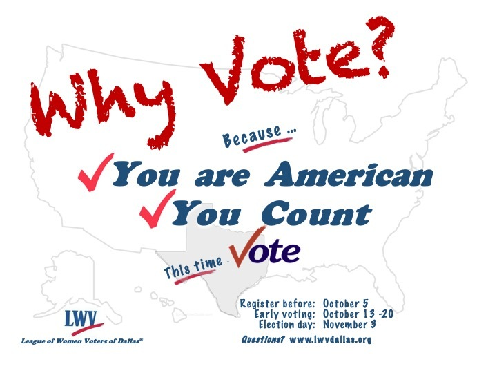 Why Vote? You are American, You Count, This Time Vote.