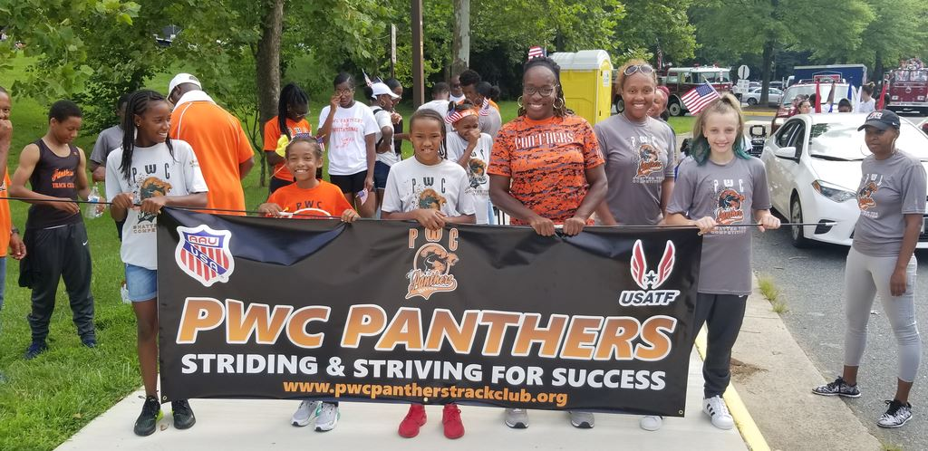 Panthers participating in community events during the 2019 Outdoor season.