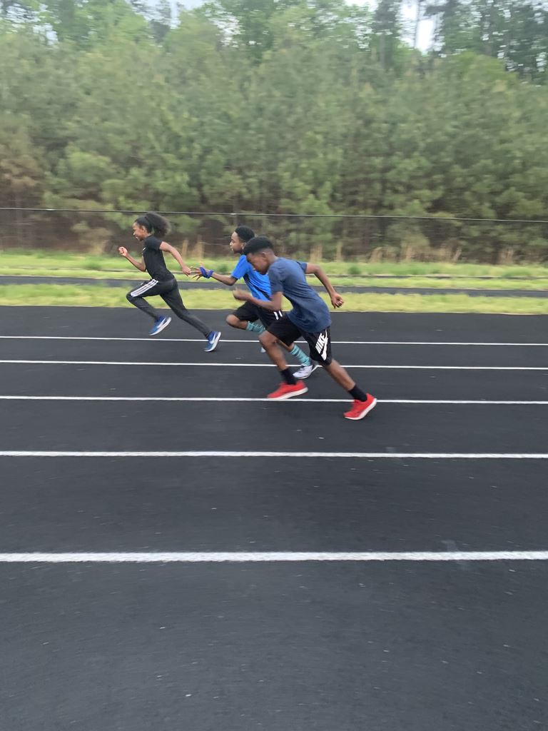 Panthers practicing during the 2019 Outdoor season.