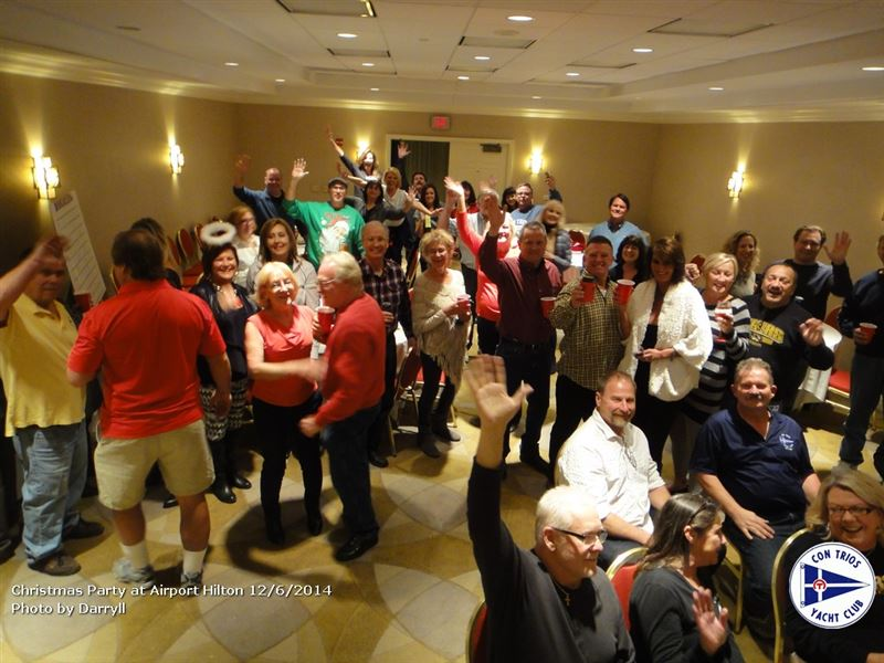 Fleet Captain Rick Flier finished up his year of parties with a great Christmas Party at the Airport Hilton.  Great food, great fun, great music by the Everyday People band.