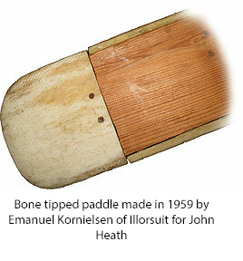 Bone tipped paddle made in 1959 for John Heath