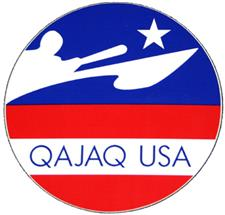 Qajaq USA Logo Sticker - click to view details
