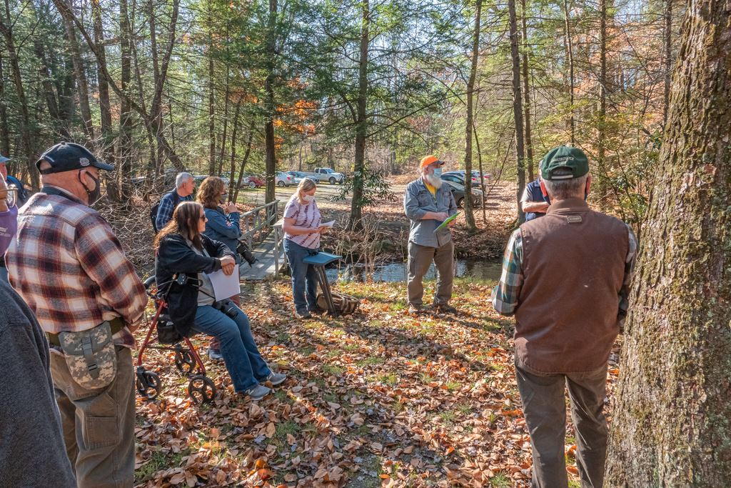 A visit to the Pohoqualine Fishing Assoc. Camp at Alice Picnic Area on the McMichaels Creek for a PPC Shoot Out on Nov. 8, 2020.