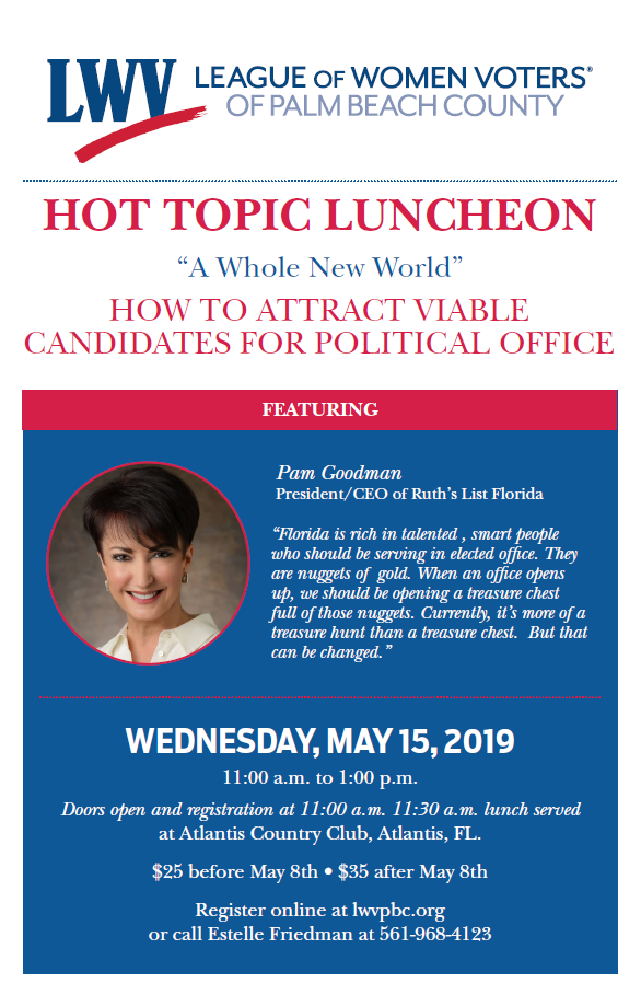 Hot Topics — How to attract viable candidates for office - 5/15/2019