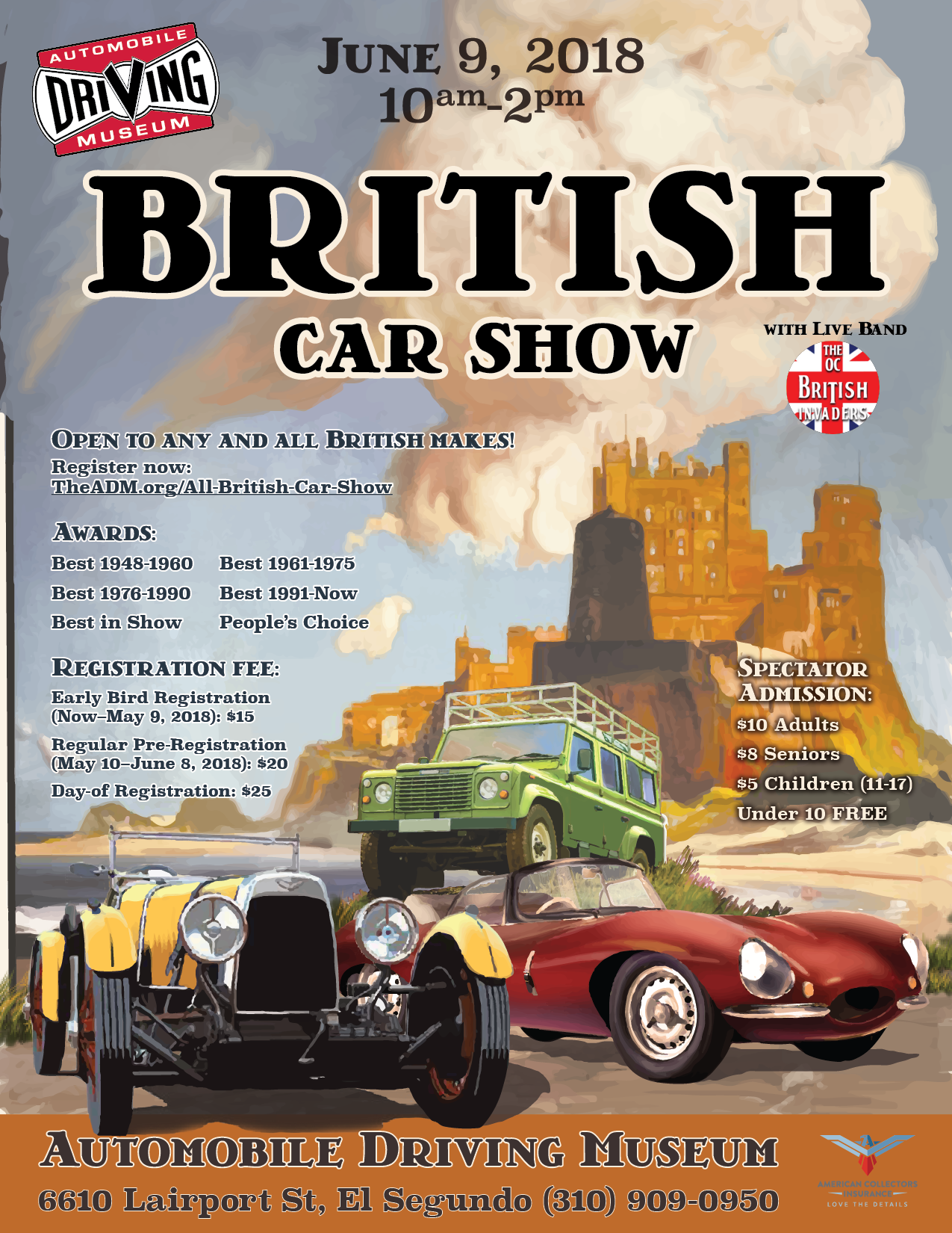 Automobile Driving Museum British Car Show Events Jaguar - Any car shows near me