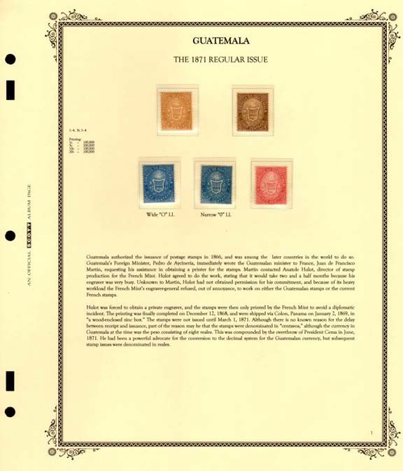 Images illustrating various aspects of Michael Bloom's new Guatemala Stamp Album