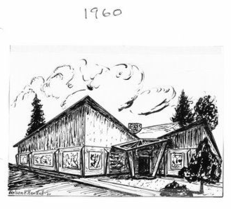 Sketch of the ASA building 1960