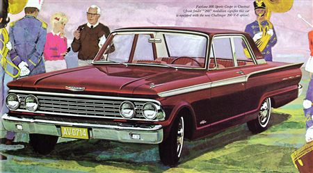 1962 Fairlane 500 Sports Coupe 2-door Sedan (bucket seats  console)
