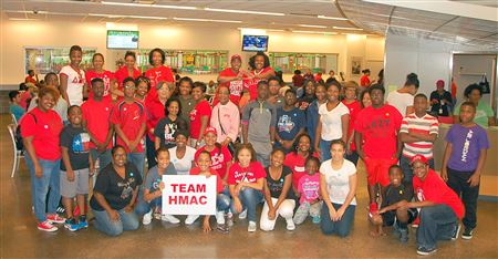 HMAC members, along with Delta Academy, Delta GEMS, and EMBODI participants, helped to assemble thousands of meals to be distributed to local school children.