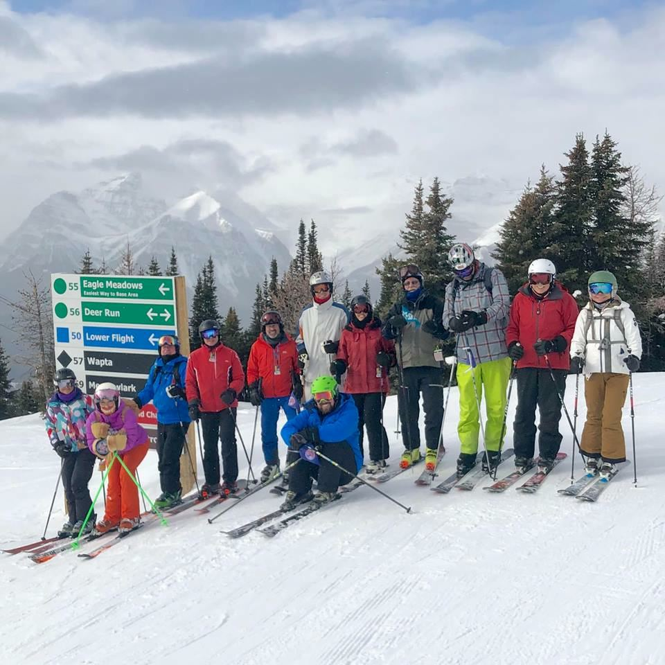 2019 Ski Trip to Banff Canada, skiing at Sunshine Village & Lake Louise ski resorts.