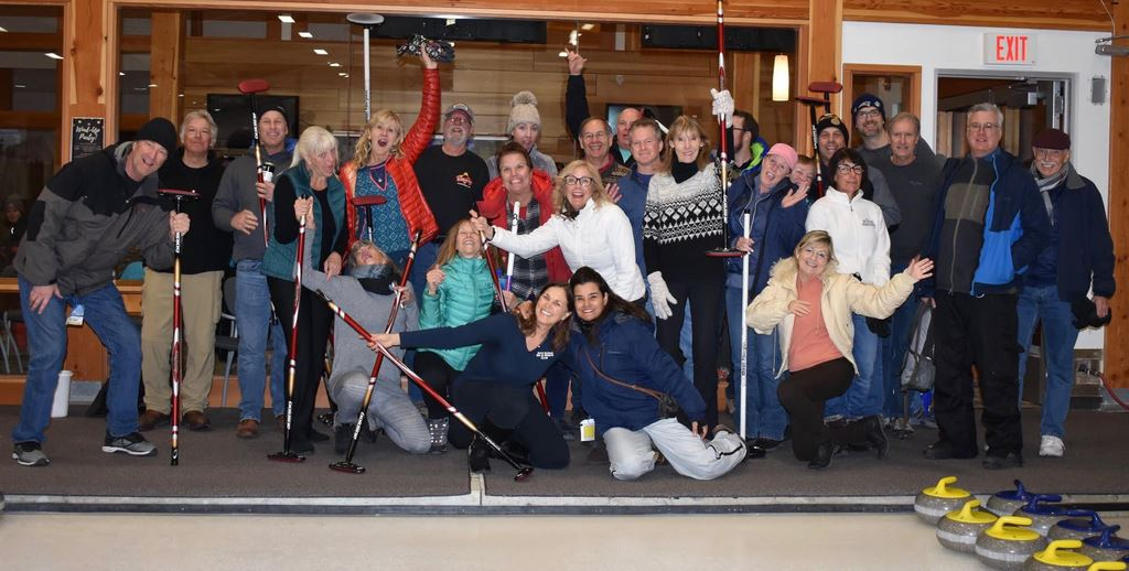 Curling in Canada, during the 2019 Banff Ski Trip